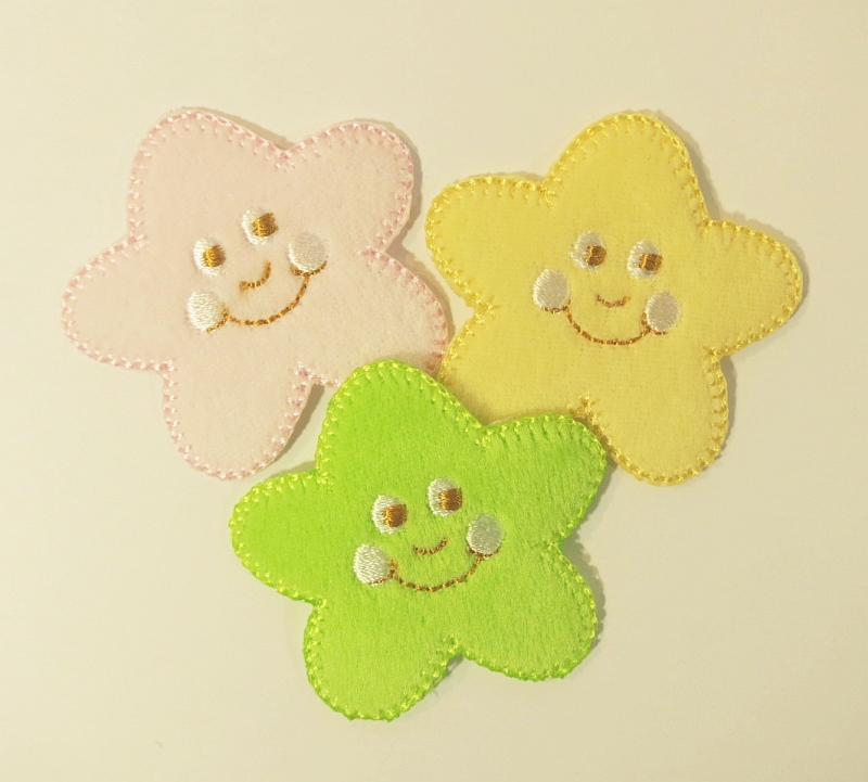 Bügelmotiv B smiling flowers
