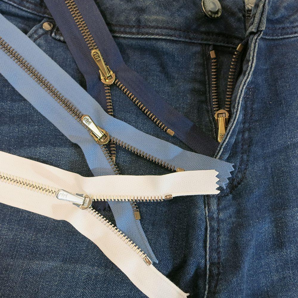 Reißverschlüsse für Jeans