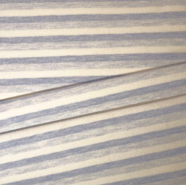 Kids Jerseystoff offwhite-hellblau mit Streifenprint